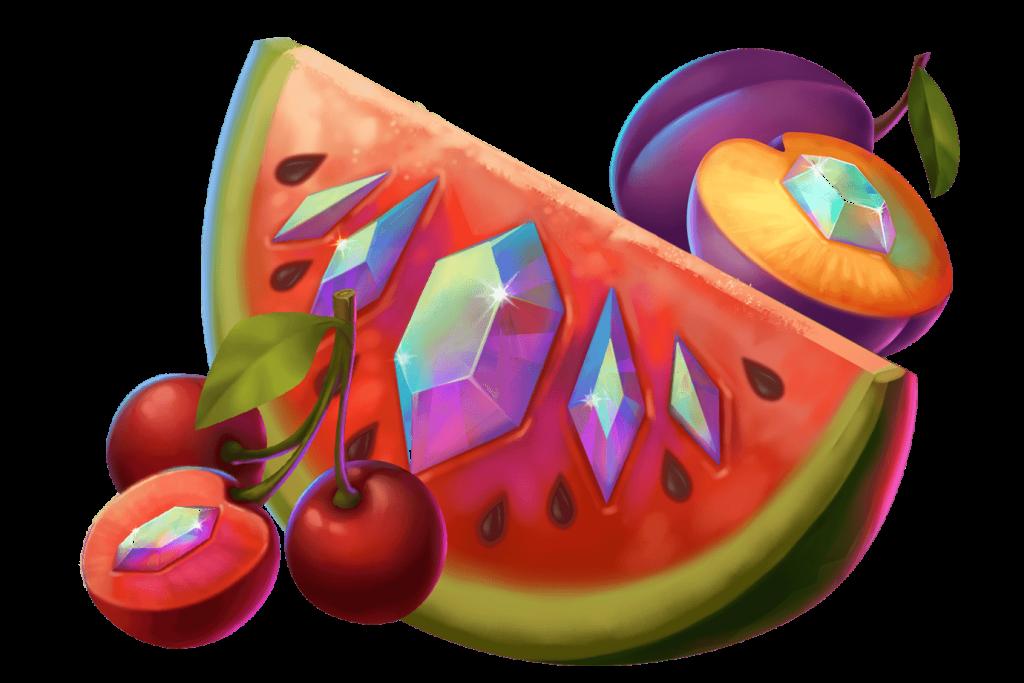 ovoce s diamanty